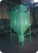 Dust collector for calcium carbonate